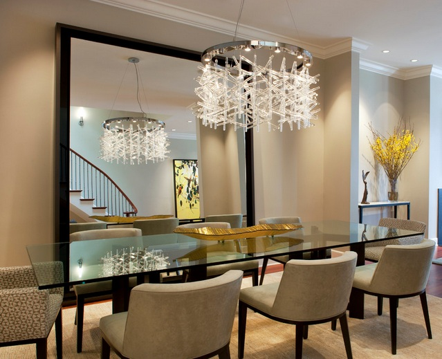 Crystal Dining Room Chandelier. Modern Crystal Dining Room Chandeliers  Combined With Glass Crystal Dining Room