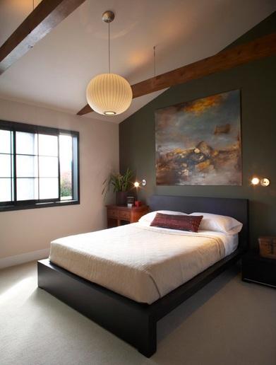 White Globe Ceiling Hanging Lights For Bedroom