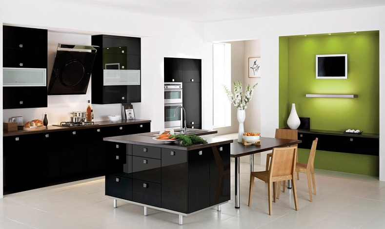 Coffee Themed Kitchen Decor With Black And Brown Kitchen Sets And Other Related Images Gallery
