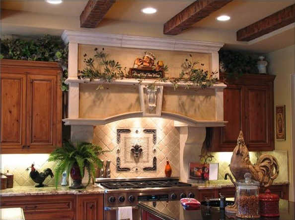 Country Kitchen Wall Decor With Decorative Wall Plate And Other Related Images Gallery