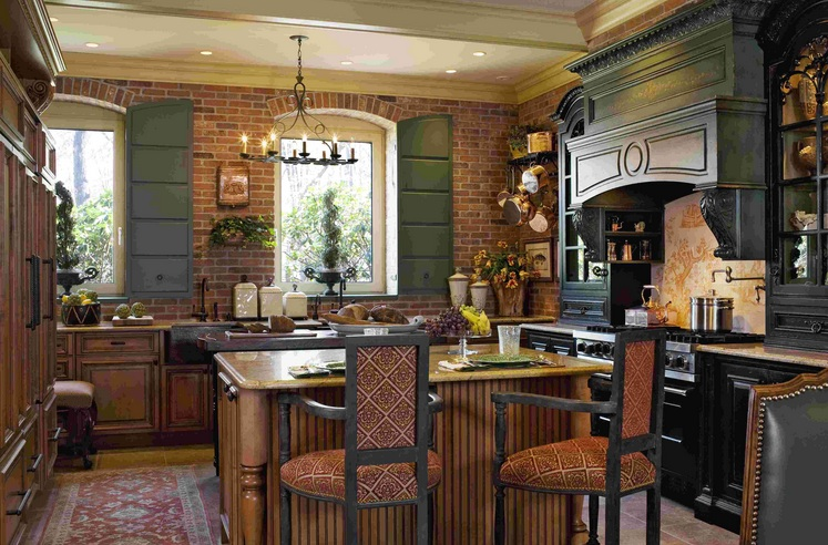 Country Kitchen Wall Decor With Painted Brick Its One Of The Most Popular On Home Decorating These Images Posted Under