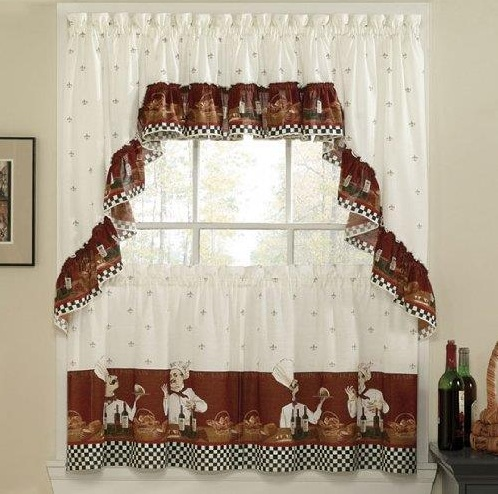fat chef kitchen decor with kitchen curtains - decolover