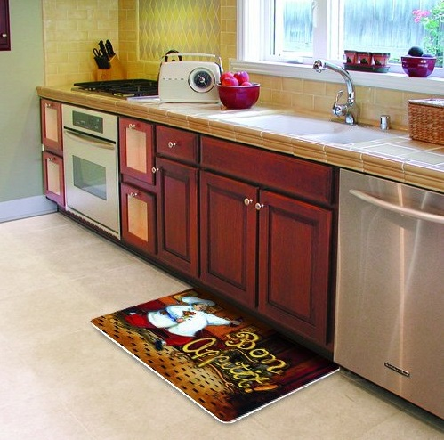 Fat chef kitchen decor with kitchen rugs | Decolover.net