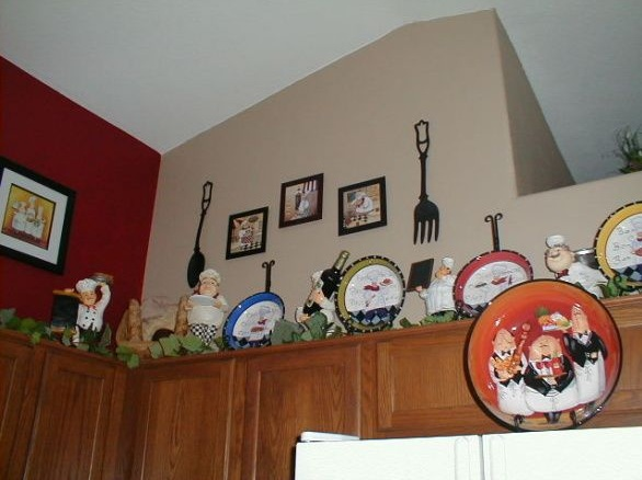 Fat Chef Kitchen Decor With Plate Painting