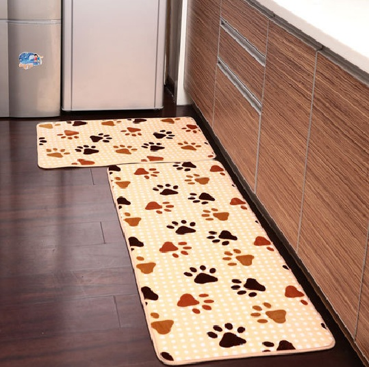 kitchen decorative mats with animal footprints