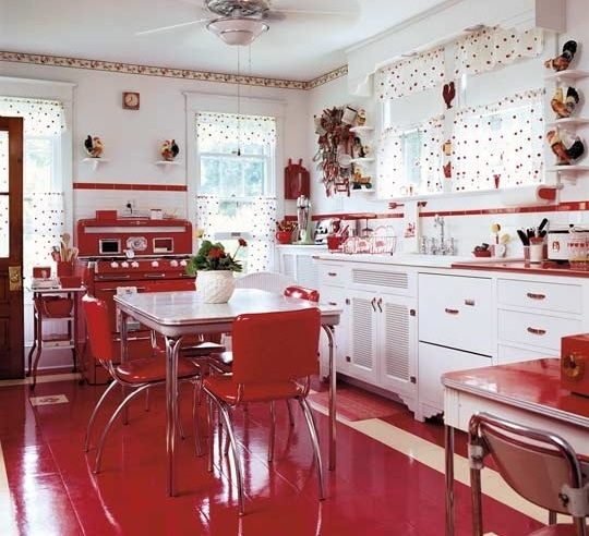 Strawberry kitchen decoration with printed kitchen for Kitchen decoration