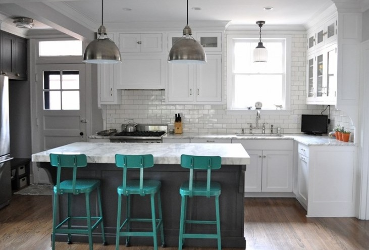 Turquoise Kitchen Decor With Turquoise Chairs
