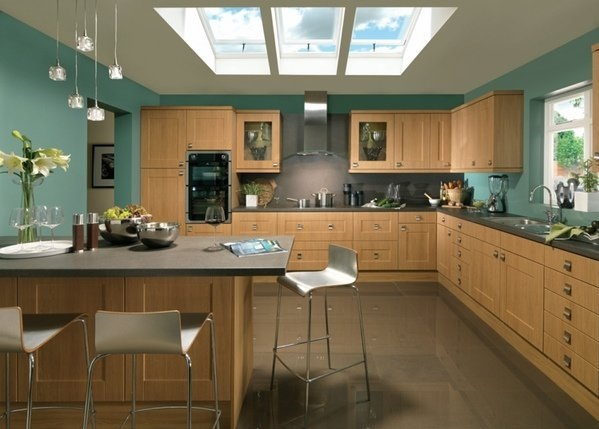 Turquoise Kitchen Design Ideas ~ Turquoise kitchen decor with wall paint
