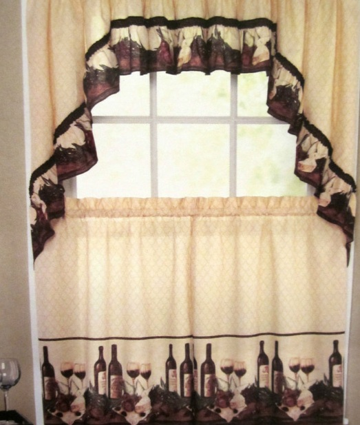kitchen curtains fruit design. Wine themed kitchen curtains with tuscan color Themed Kitchen Curtains Design And Ideas  Decolover net