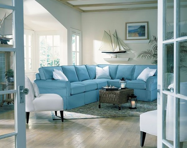 Blue And Gray For Living Room For Sea Themed Guest Room