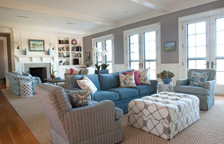 28 best grey blue brown living room the lennoxx 187 blog archive 187 glamorous blue home - Brown and blue living room ...