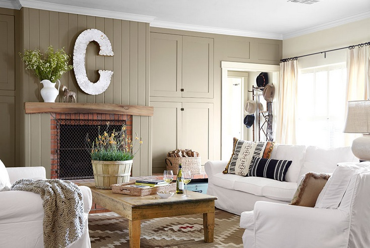 30 Country Chic Living Rooms For Modern Antique Feel | Decolover.net