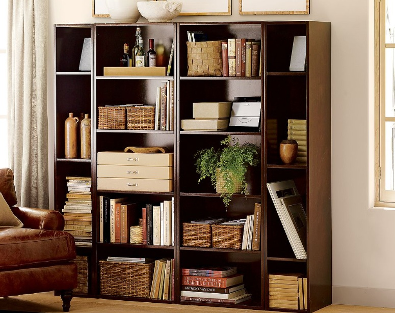 Decorative Boxes For Bookshelf : Decorated bookshelves with painting the shelf decolover