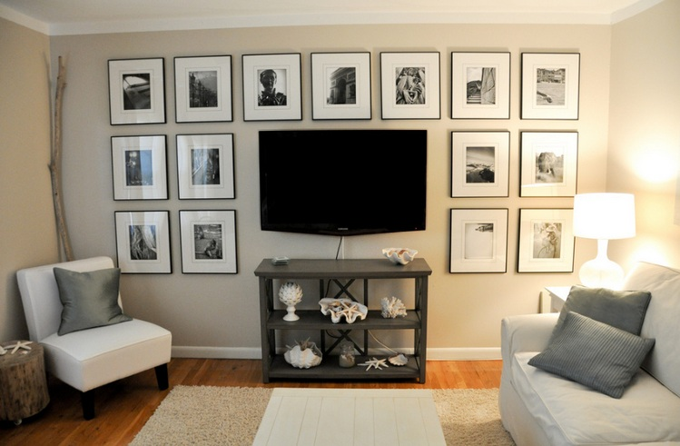 Wall Sconces Around Tv : Decorating around a tv with ceiling track lighting Decolover.net