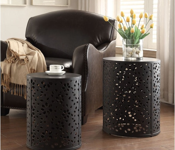 Decorative tables for living room trunk side table - Metal side tables for living room ...