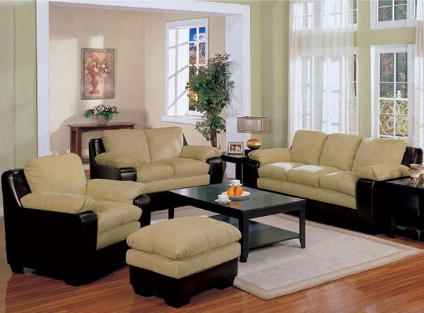 Chairs With Ottomans For Living Room With Yellow Sofa
