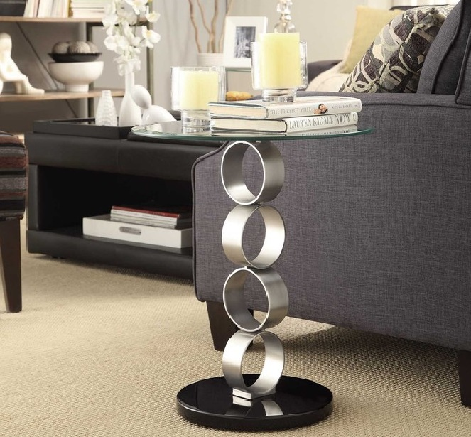Glass Side Tables For Living Room With Contemporary Design