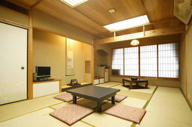 Japanese style living room ideas with modern couch set for Living room design japanese style