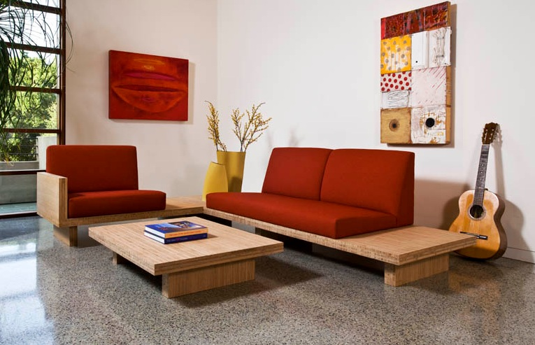 Sofa designs for small living rooms with round wooden for Round couches for small living rooms