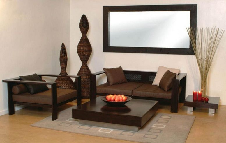 Minimalist wooden sofa designs for small living rooms for Sofas for small rooms