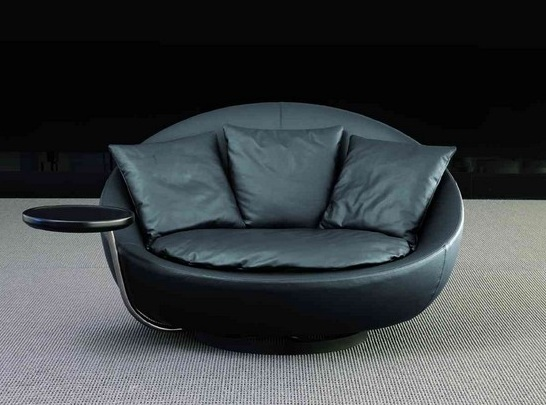 Oversized swivel chair for living room with cushion Decolovernet