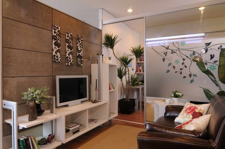 Small Tv Room Ideas With Leather Sofa And White Tv Shelf Part 58