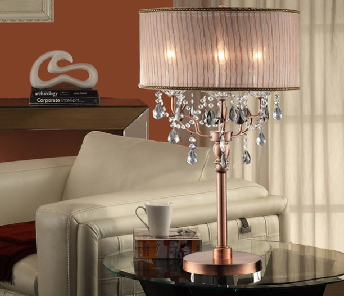 lamps for living room. living room decor with solid crystal lamp