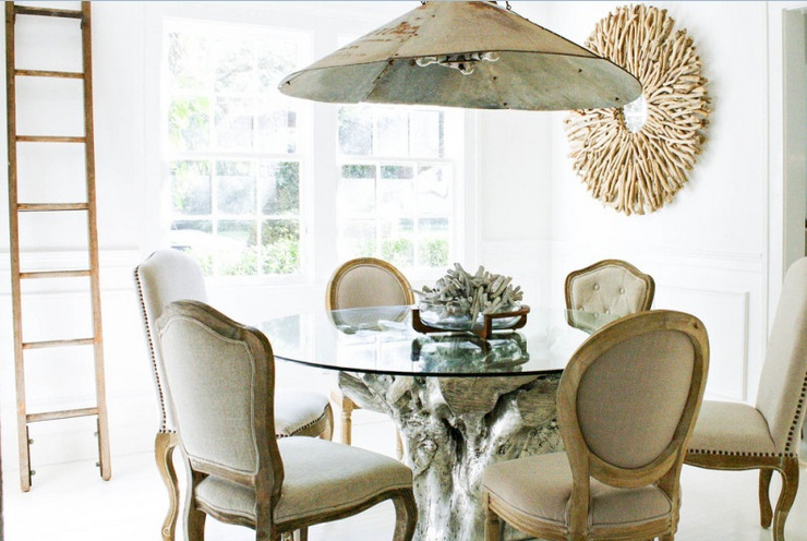 Vintage dining room lighting ideas wih vintage metal lamp for Casual dining lighting