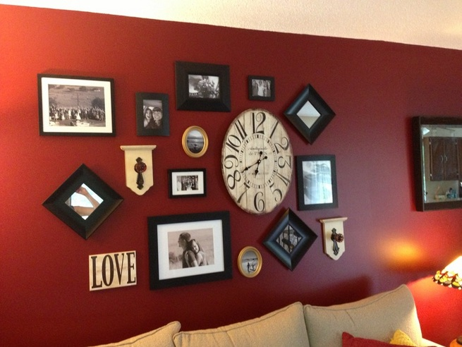 Wall Decorations For Living Room With Round Framed Mirror Set