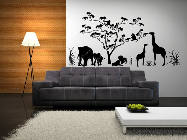 Wall decorations for living room with metal wall art for Wall decoration ideas with photos