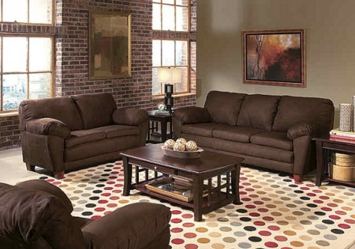 Brown Living Room Decorating Ideas With Brick Wall Colorful Carpet Its One Of The Most Popular On Home These Images Posted Under