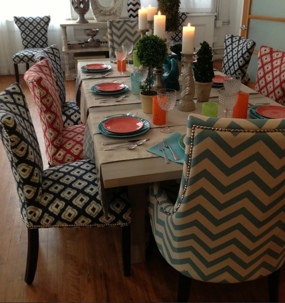 Dining Room Chair Cotton Fabric Ideas For Large Wood Dining Table