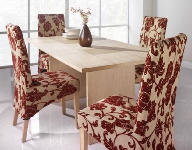 Dining room chair fabric ideas for minimalist small dining table ...