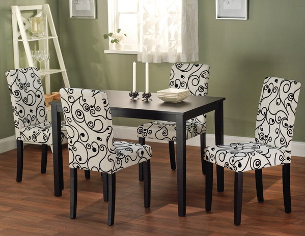 Delightful Dining Room Chair Fabric Ideas For Minimalist Wood Dining Table