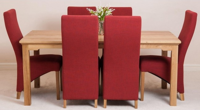 Dining Room Chair Fabric Ideas For Minimalist Wood Dining