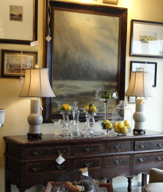 Dining Room Sideboard Decorating Ideas With Abstract
