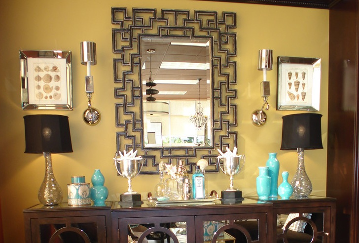 dining room sideboard decorating ideas with decorative mirror frames