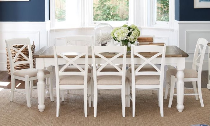 french provincial dining room furniture with white painted