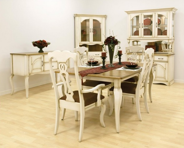 French provincial dining room furniture with natural