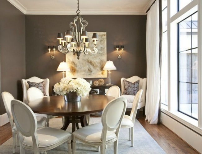 French Provincial Dining Room Furniture With White Painted Chairs