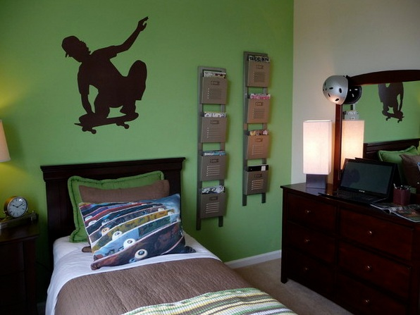 Bedroom Color Schemes For Teenage Guys : Paint color schemes for boys bedroom makes the tone of