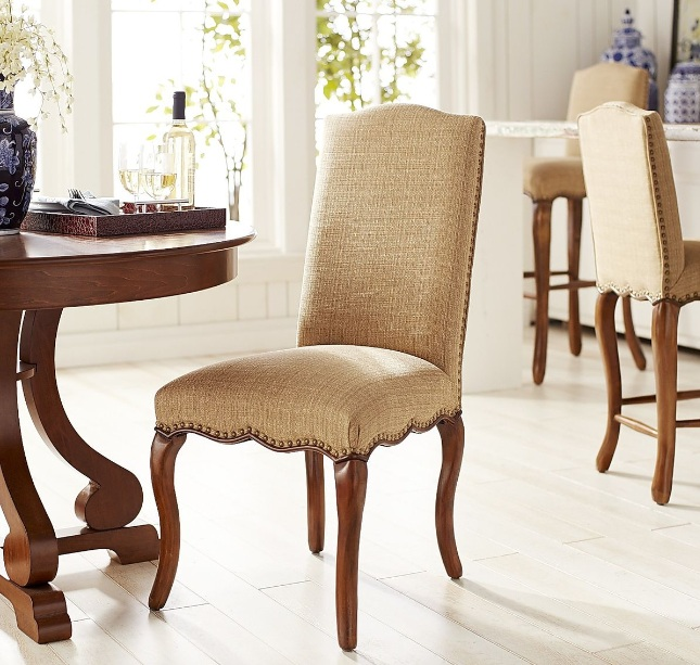 Hemp fabric dining chair ideas for classic style dining room - Grey fabric dining room chairs designs ...