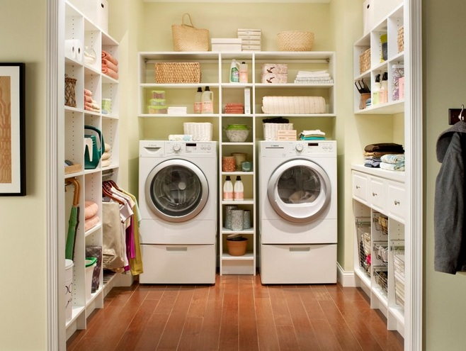 laundry room shelf over washer dryer with adjustable wire. Black Bedroom Furniture Sets. Home Design Ideas