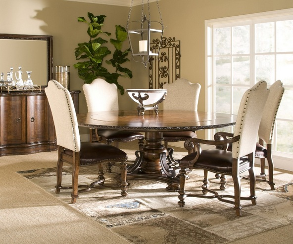Hemp fabric dining chair ideas for classic style dining for Other ideas for dining room