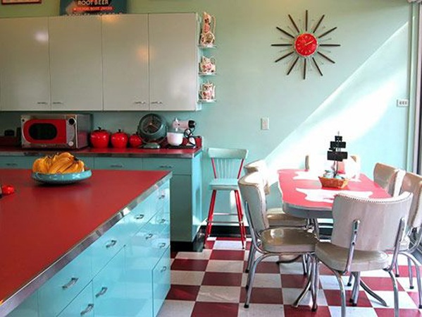 Red White And Blue Kitchen Decor With Retro Style, Itu0027s One Of The Most  Popular On Home Decorating. These Images Posted Under: Red White And Blue  Kitchen ...