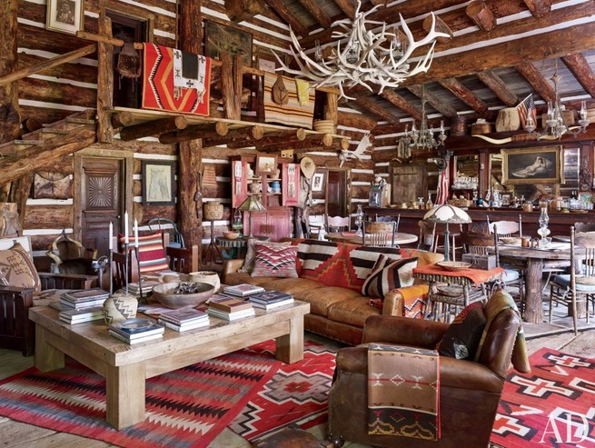 Rustic Western Living Room Decor With Natural Wood Furniture Decolover Net