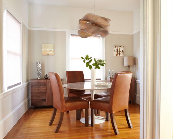 Small Formal Dining Room Ideas With Round Table And Leather Chairs