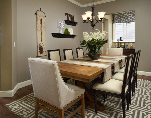 Small formal dining room decorating ideas for Formal dining room wall decor