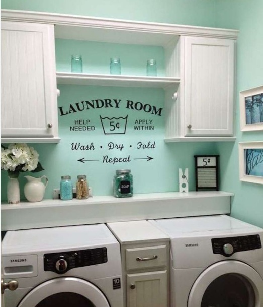 Bright Color Wall Paint Decor For Laundry Room Decolover Net