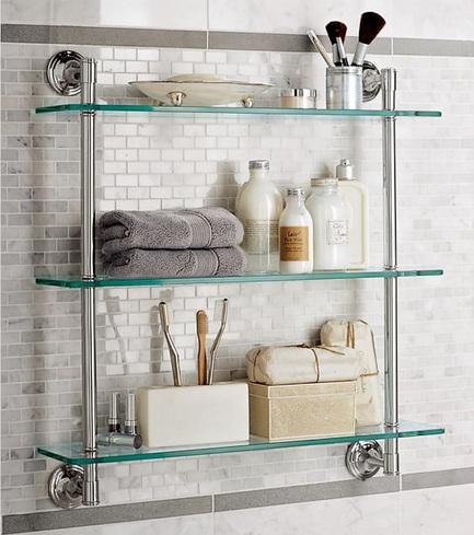 Decorative Bathroom Shelves With Glass Shelves